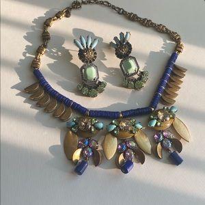 jcrew necklace+ lulu frost earring